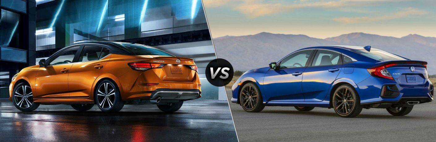 2020 Nissan Sentra vs 2020 Honda Civic