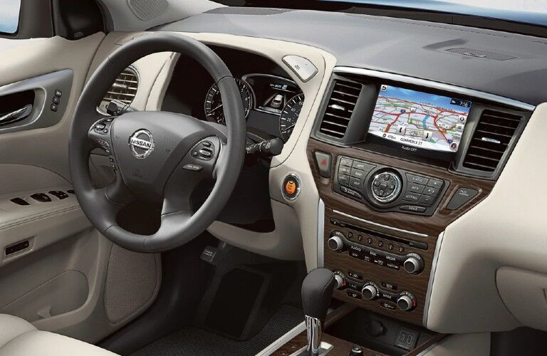 Steering wheel inside the 2020 Nissan Pathfinder