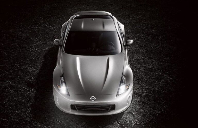 Overhead view of a silver 2020 Nissan 370Z