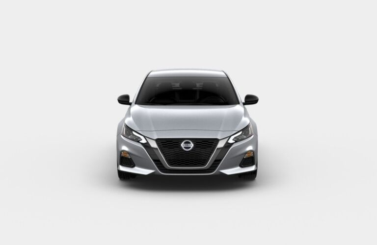 Front view of a silver 2020 Nissan Altima SR