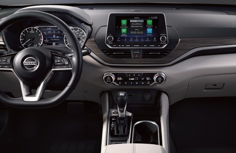 Steering wheel and dash of the 2020 Nissan Altima