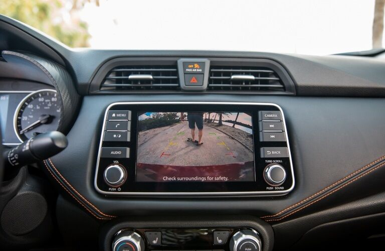 Rear view camera in the 2020 Nissan Versa