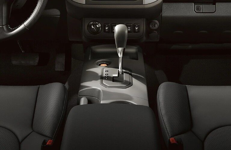 front interior of the Nissan Frontier