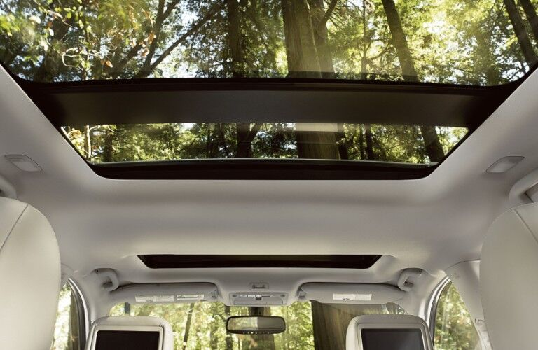 moonroof in the 2020 Nissan Pathfinder