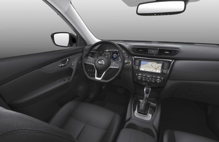 Driver's view in the 2020 Nissan Rogue
