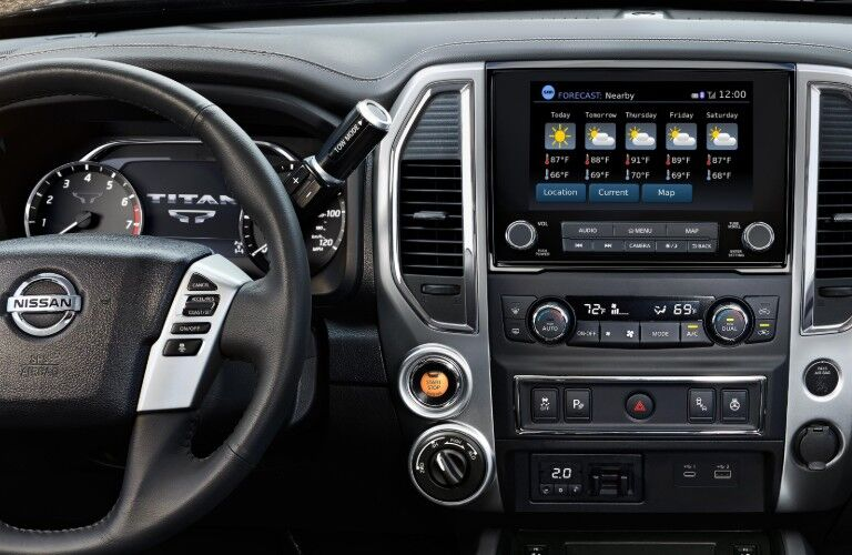 dashboard of the 2020 Nissan Titan