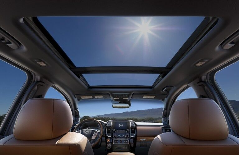 moonroof in the 2020 Nissan Titan