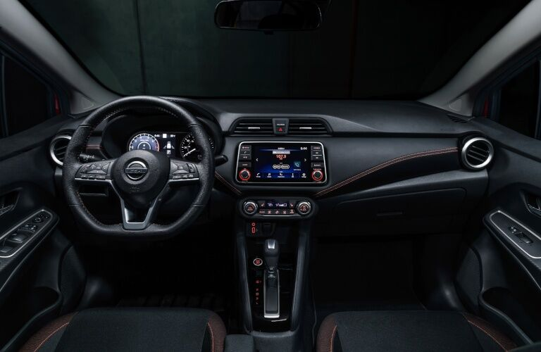 Cockpit view in the 2020 Nissan Versa