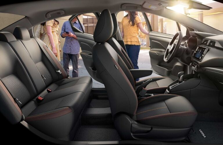 Interior seating of the 2020 Nissan Versa