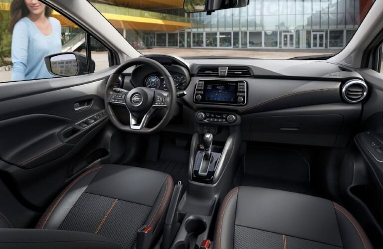 Cockpit view of the 2020 Nissan Versa