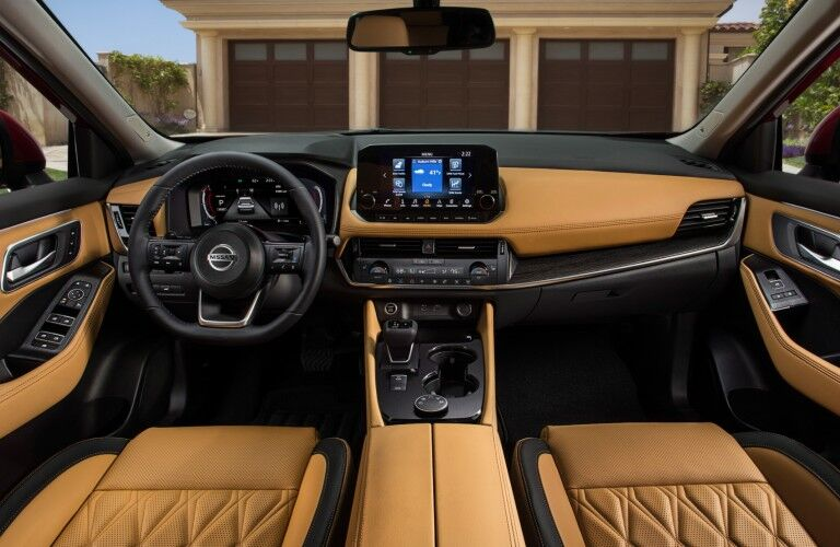 dashboard of the 2021 Nissan Rogue