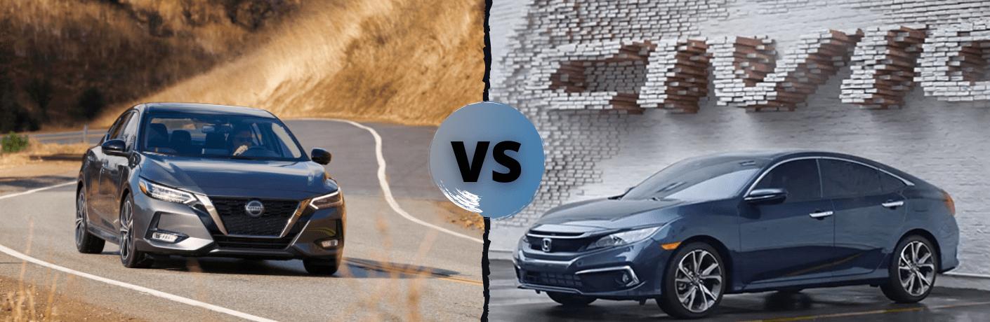 2021 Nissan Sentra VS 2021 Honda Civic Sedan