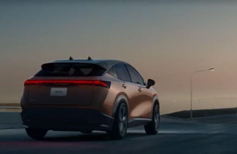 2021 Nissan Ariya driving rear view
