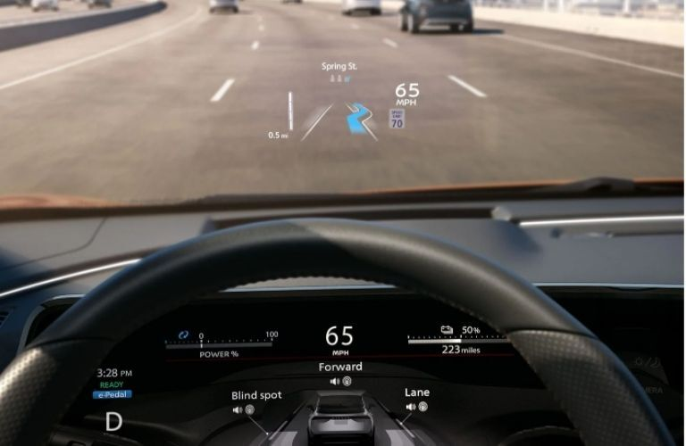 2021 Nissan Ariya interior dash and wheel