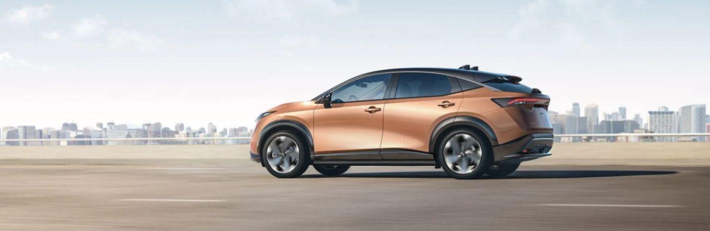 2021 Nissan Ariya driving on the road