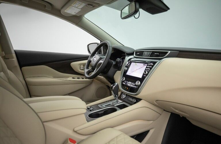 2021 Nissan Murano interior beige leather side view