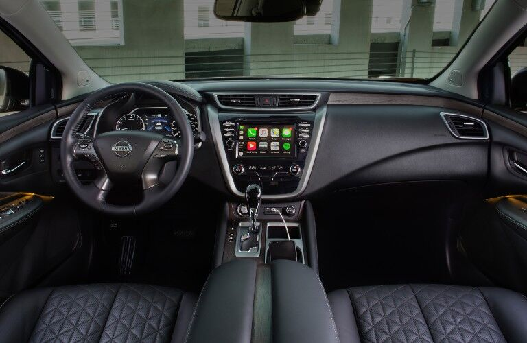 2021 Nissan Murano interior black leather full front cabin