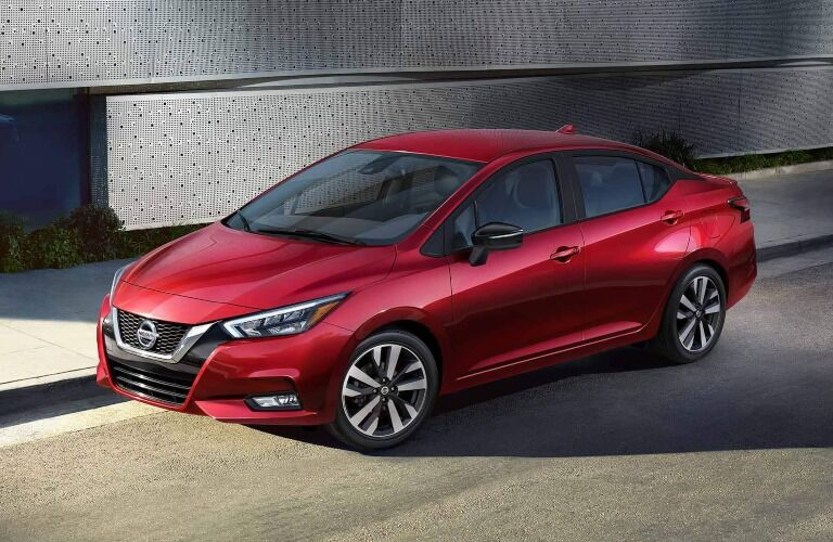 2020 Nissan Versa parked on side of the road