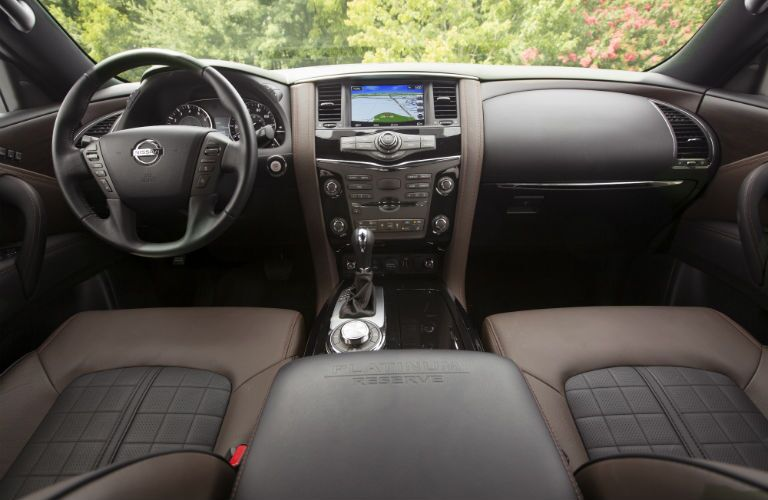 A photo of the dashboard in the 2020 Nissan Armada.