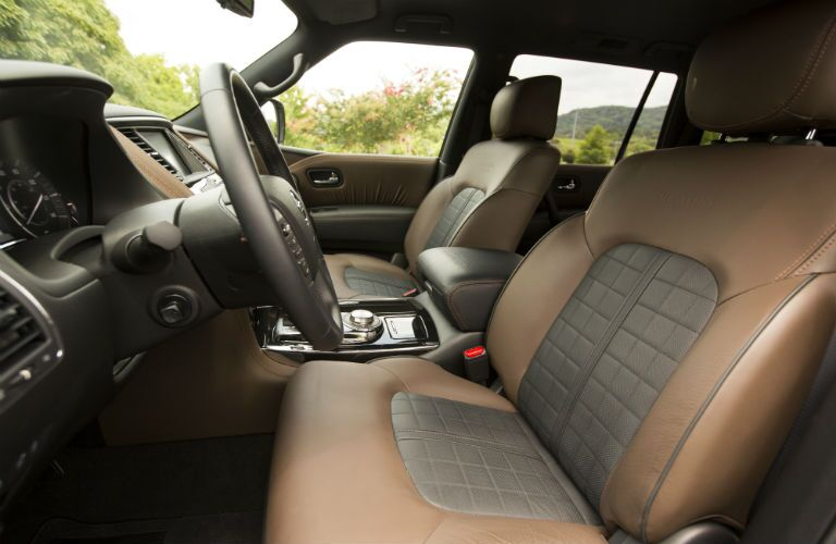 A photo of the front seats in the 2020 Nissan Armada.