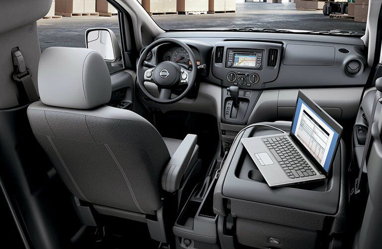 interior office space nissan nv200