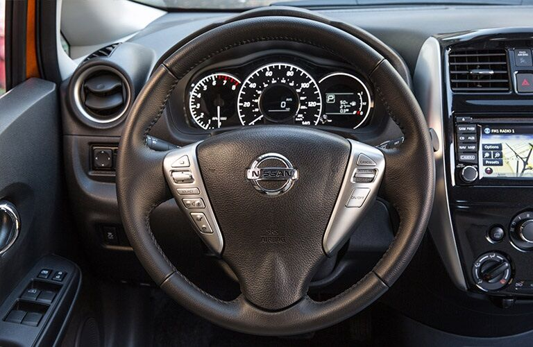 Steering wheel in the 2018 Nissan Versa Note