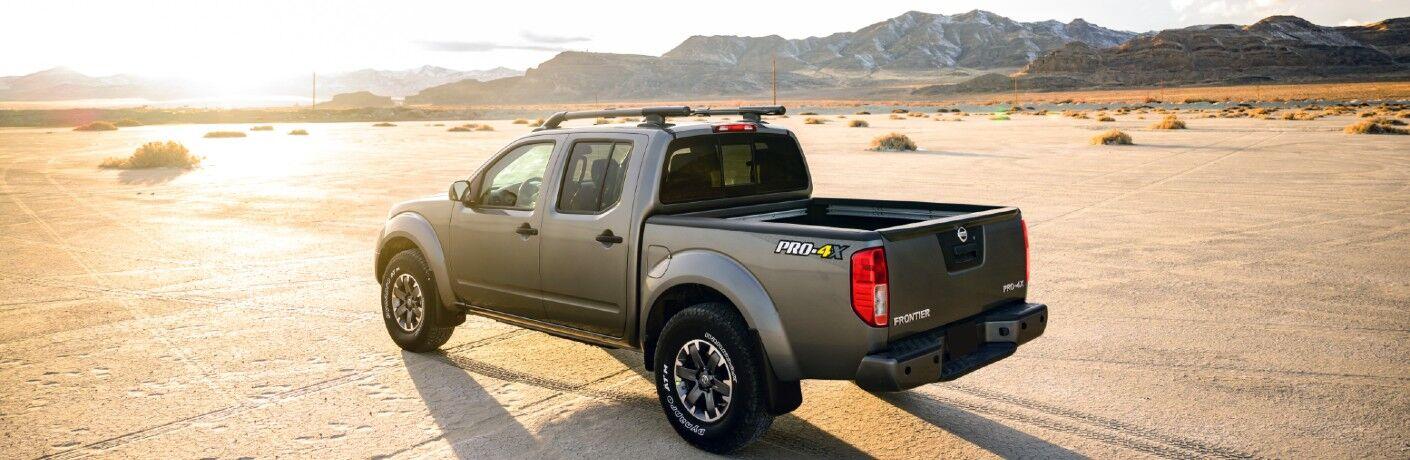 Frontier Pro-4X driving through the desert