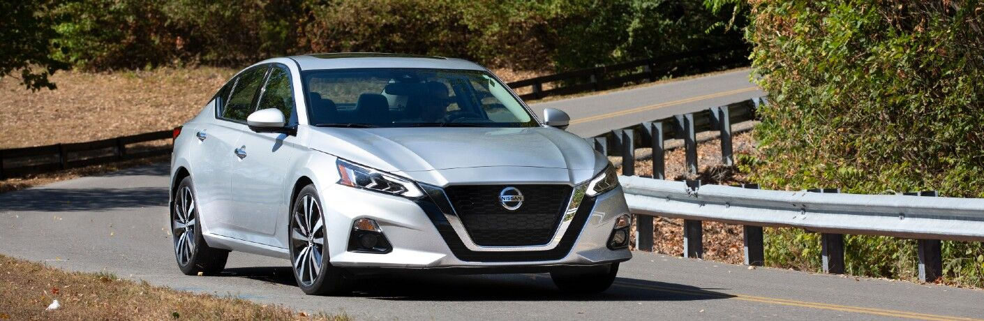 2021 Nissan Altima driving around corner