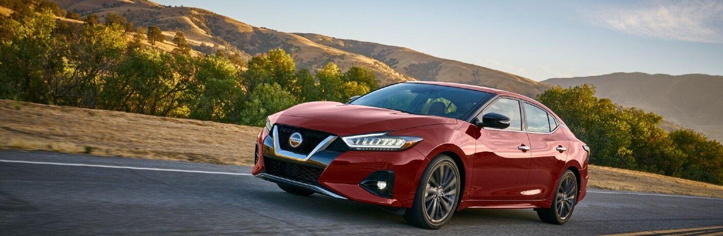 2021 Nissan Maxima driving through desert