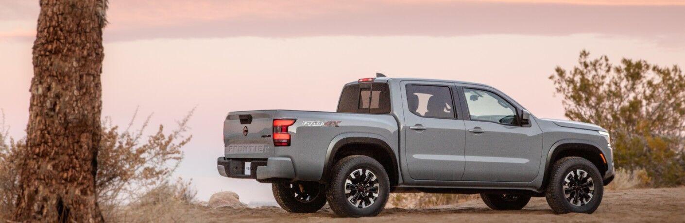 2022 Nissan Frontier in the desert