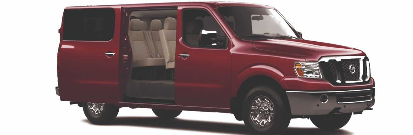side view of the 2021 Nissan NV 3500 HD Passenger van