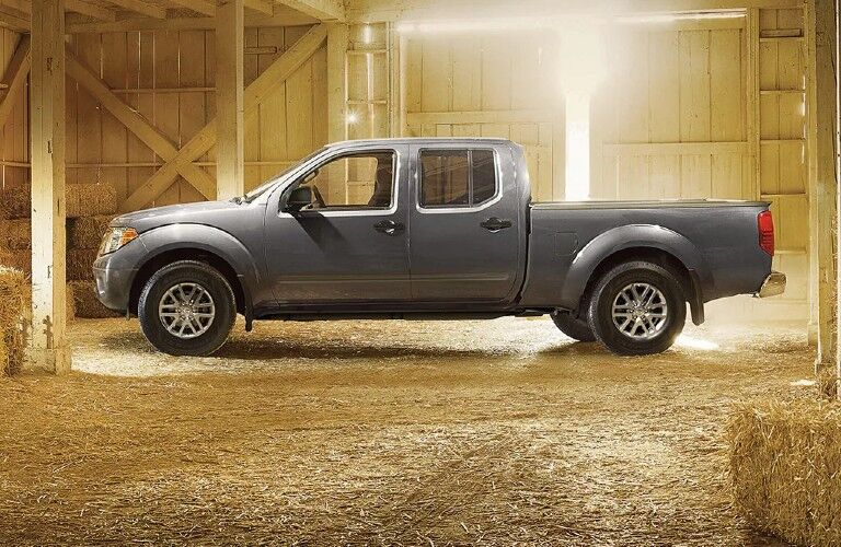 side view of the 2021 Nissan Frontier