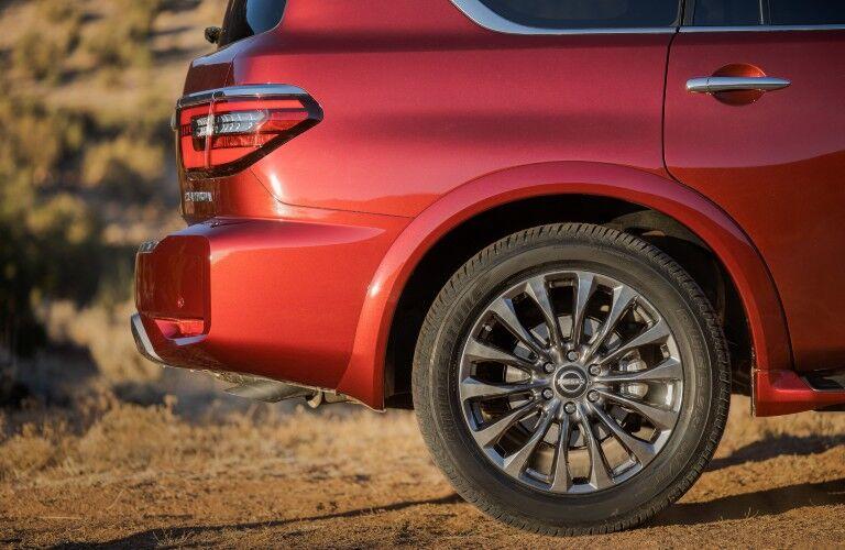 rear wheel of the 2021 Nissan Armada