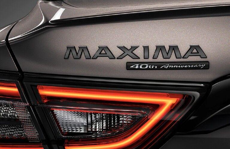 2021 Nissan Maxima 40th anniversary edition badging