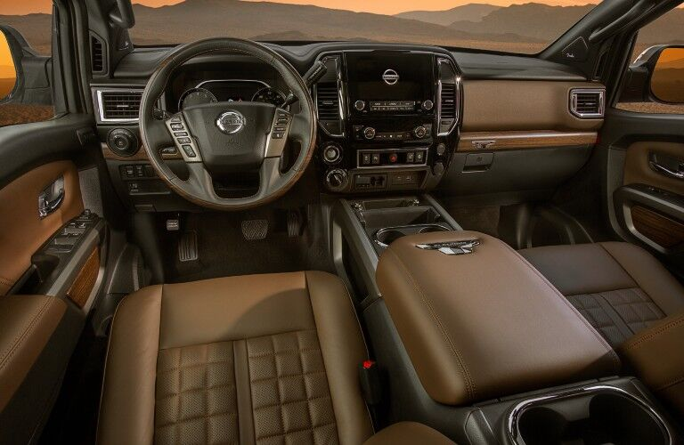 interior of the 2021 Nissan Titan XD