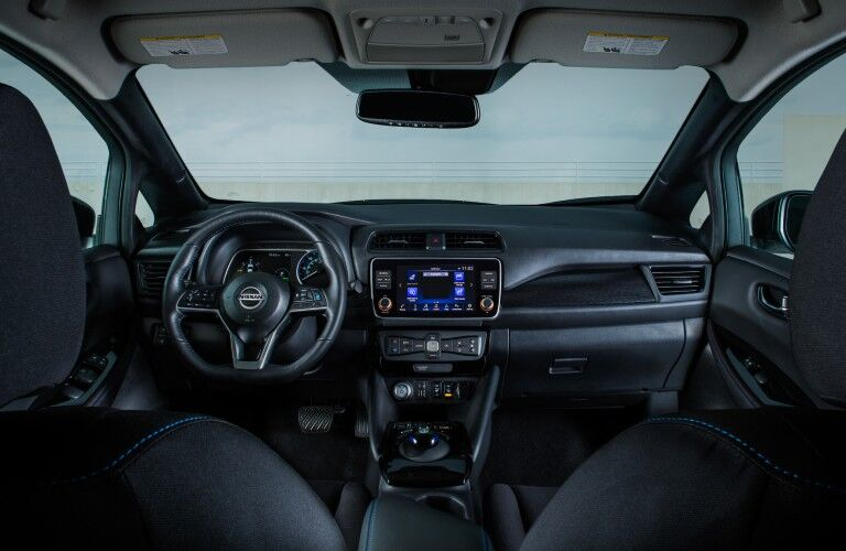 front interior of the 2021 Nissan LEAF