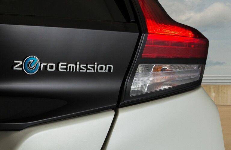 2021 Nissan LEAF badging