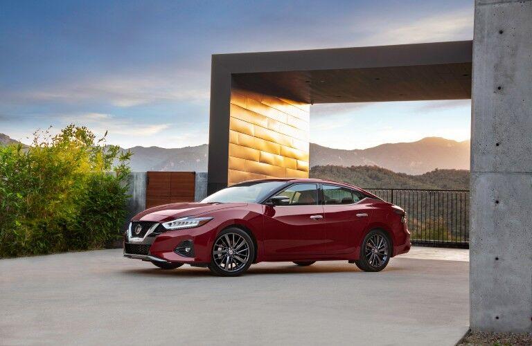 2021 Nissan Maxima in driveway