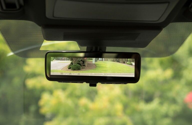 rearview mirror of 2020 Nissan Armada