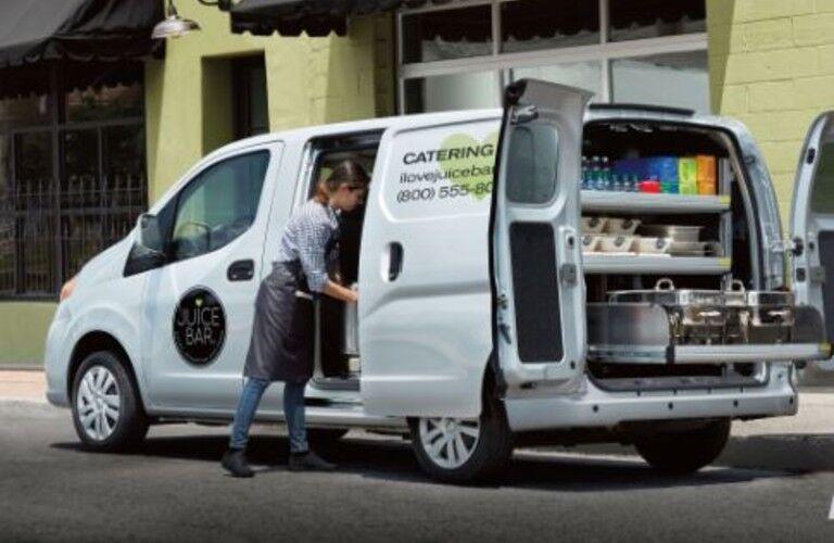 white 2019 Nissan NV200 Compact Cargo Van