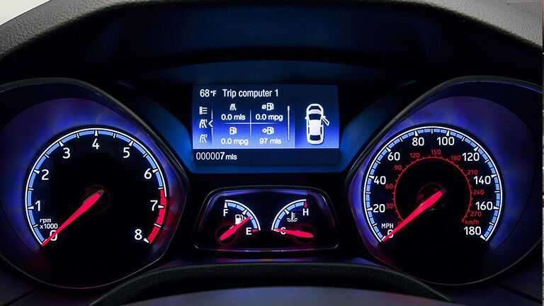 Dashboard gauge screen on the  2015 Ford Focus