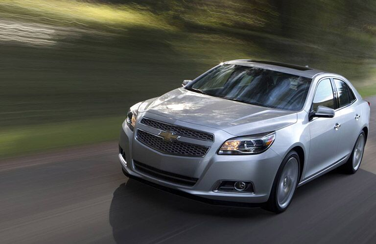 2016 Chevy Malibu on the road