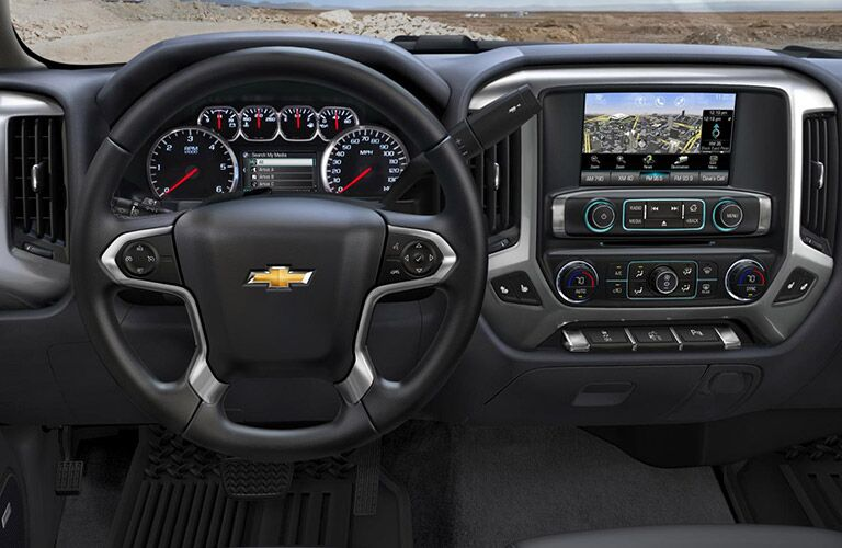 2016 Chevy Silverado dashboard view