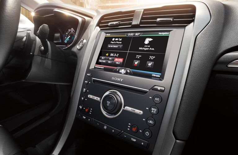 Ford infotainment in the 2016 Ford Fusion
