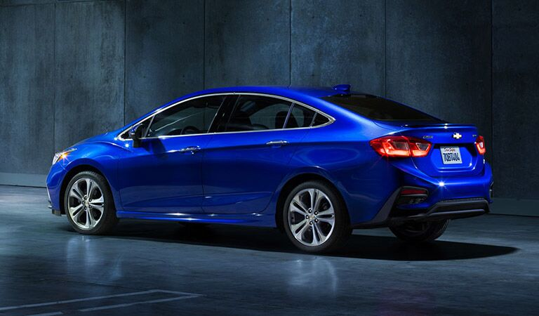 Blue Chevy Cruze fast and fuel efficient
