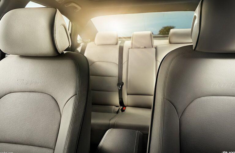 Spacious backseat of the 2016 Hyundai Sonata