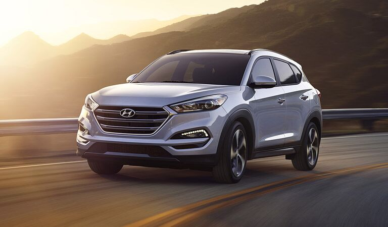 2016 Hyundai Tucson SUV at sunset