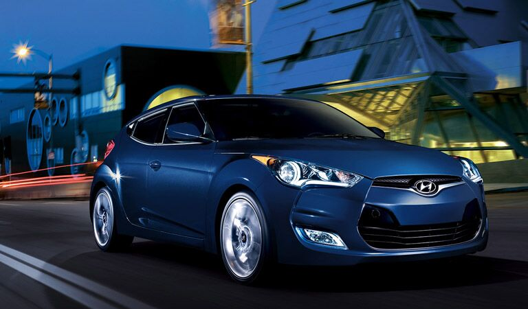 2016 Hyundai Veloster sport coupe driving at night