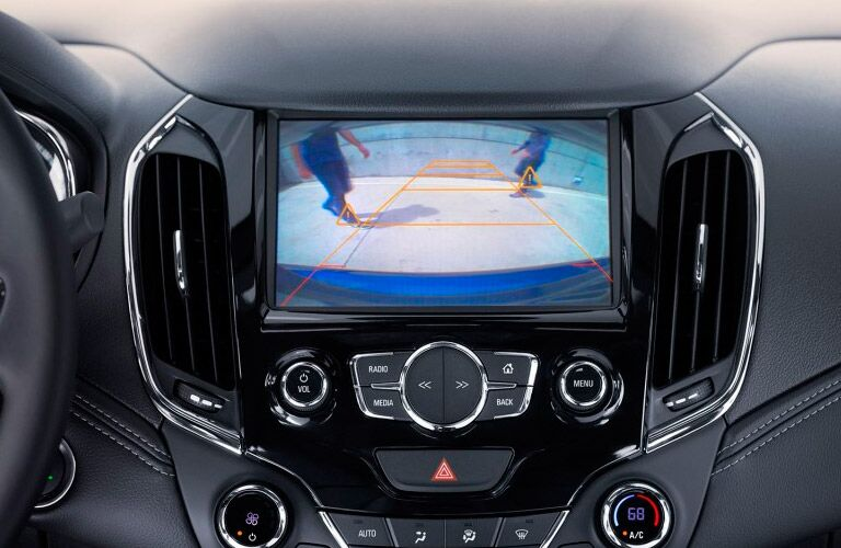 rearview camera on the 2017 Chevy Cruze