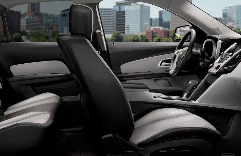 front driver's seat view in the 2017 Chevy Equinox